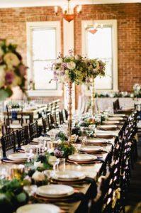 tall centerpieces, elegant reception, wedding decor