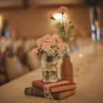 Vintage themed reception centerpiece decor
