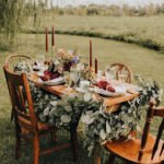 fall, boho, chic, table decor