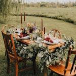 fall, boho, chic, table decor