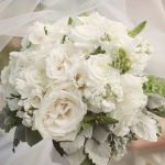 white rose wedding bouquet, white rose bridal bouquet, white wedding flowers