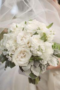white rose wedding bouquet, white rose bridal bouquet, white wedding flowers
