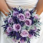 lavender roses wedding bouquet