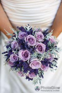 lavender roses wedding bouquet