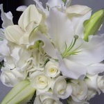 white lily wedding flowers
