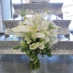 white calla lily wedding bouquet