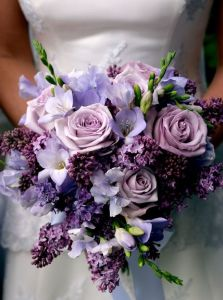 lavender and purple wedding flowers