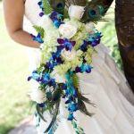 blue orchid cascading bouquet