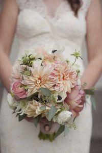 blush colored bridal bouquet