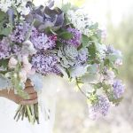 lavender colored bridal bouquet