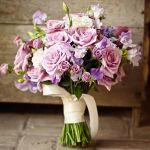 lavender roses bridal bouquet