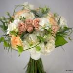 peach flowers bridal bouquet