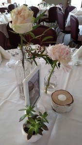 Syndicate vintage vases, reception centerpiece decor