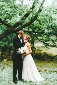 Outdoor romantic wedding