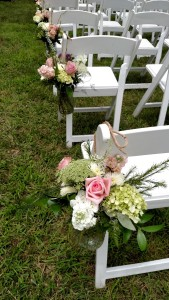wedding aisle decor, hobnob jars