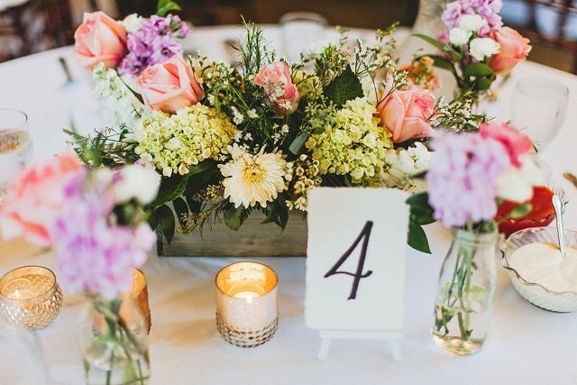woodland box centerpiece arrangements