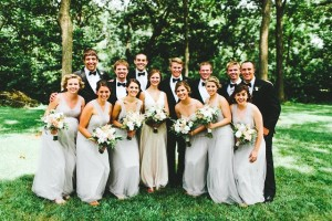 blush & gray wedding colors