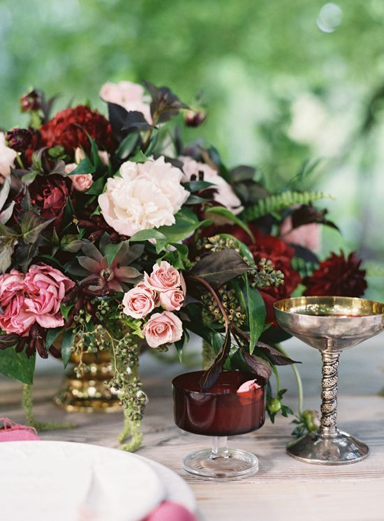 Gold accented vases