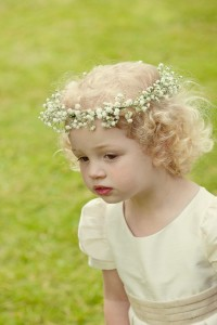 flower girl floral crown, baby's breath crown