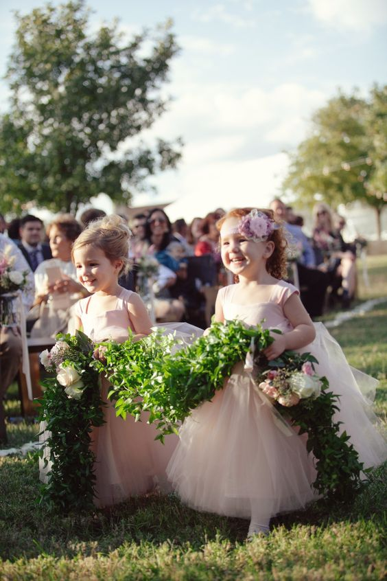 flower girl garland