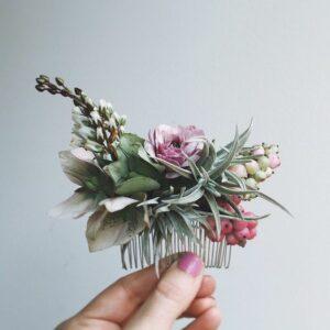 flower girl hair clip