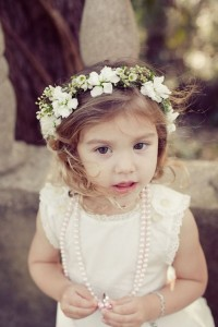 floral headband, flower girl headband
