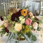 Gold Compote Centerpiece arrangement