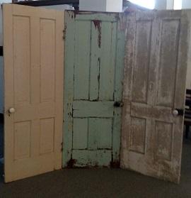 old door back drop, vintage doors