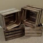 rustic crates, wooden crates
