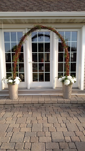 wedding arch, curly willow arch, curly willow wedding arch