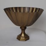 Antique finish compote vase