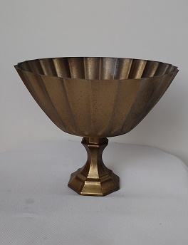 Antique finish compote vase