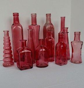 Pink Vintage Bottles