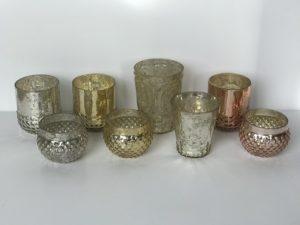 Mercury Glass Votive Holders