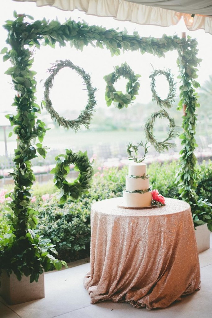 Wedding Cake Greenery