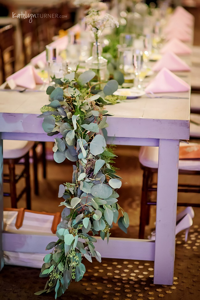 garland, eucalyptus garland, head table garland