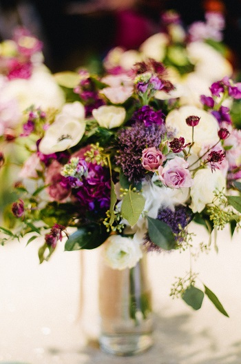 Purple bridal bouquet, wedding flowers, wedding bouquet