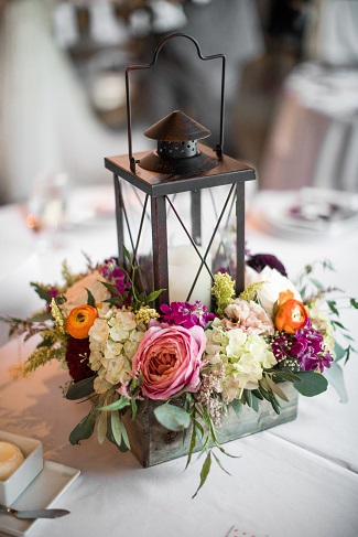 table centerpiece, reception decor, lantern centerpiece