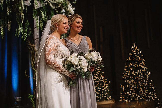 Bride, Maid of Honor, wedding bouquets