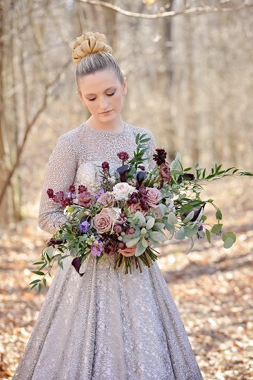 Mauve Bridal Bouquet p10