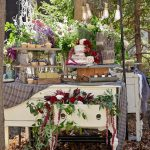 rustic dessert buffet, wedding dessert buffet