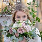Blush roses, bridesmaid bouquet