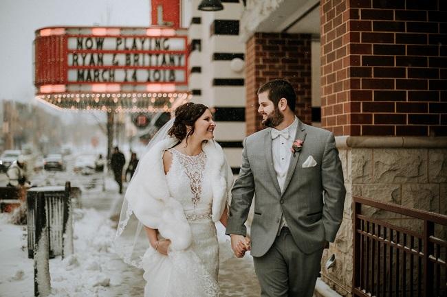 spring wedding, spring snowstorm