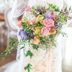 Summer wedding flowers, bridal bouquet