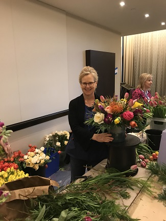 Volunteer designer for First Lady's Luncheon, flower arrangement