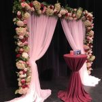 Pipe and drape backdrop, wedding backdrop, floral backdrop
