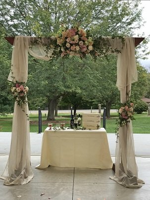 Floral Wedding Arch, Wedding Backdrop Decor