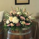 wine barrel arrangement, wedding decor ideas
