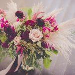 pampas grass bouquet, bridal bouquet, wedding bouquet