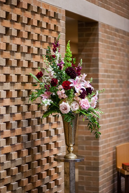 Altar arrangement, tall centerpiece